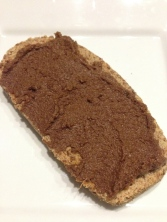 Coconut Chocolate spread on Nut Bread